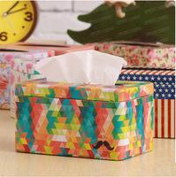New Arrival Korean Style Multi-colors Fashion Design Metal Tissue Box Facial Paper Holder Creative Home Decoration T1245