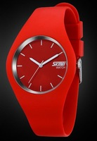 free shipping hot red 4.3cm dial fashion women and men watches SKMEI 9068 cheap price european popular designer wristwatches