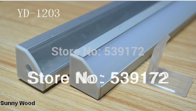 10set/lot led aluminium profile for led bar light, led strip aluminum channel, aluminum housing Sunny Wood YD-1203-F(China (Mainland))