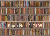Free shipping bookshelf modern minimalist wallpaper TV backdrop wallpaper study looks really bookshelves photo wallpaper