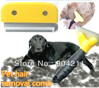 On sale Magic pet depilates comb dog hair removal comb cat steel comb 3 sizes free shipping gifts