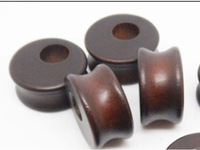 Natural Organic Wood Double Flared Saddle Ear Tunnel Plug Stretcher Brown
