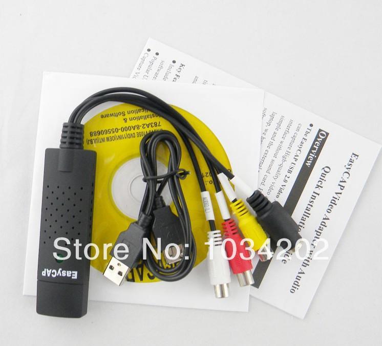 220 Set/lot* 3ic vhs auf dvd konverter adapter video-capture-karte easycap usb 2.0 video tv dvd vhs-aufzeichnungskarte für win7 xp