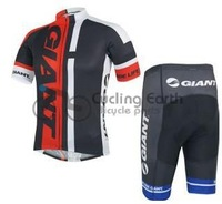 2014 NEW! Giant red team short sleeve cycling jersey shorts set, bike bicycle wear clothes jerseys pants,Free shipping!