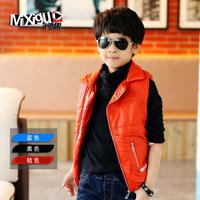 Big children's clothing winter child 2013 plus velvet thickening vest m3c305 male child cotton vest autumn and winter