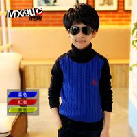 Children's clothing male winter child 2013 m9c321 turtleneck sweater big boy sweater