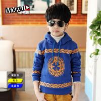 Children's clothing winter male child basic shirt big boy kids clothes m1c318 child fleece sweatshirt thickening