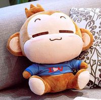 wholesaler hot sell Christmas gift lovely YOCI MONKEY soft stuffed plush animal doll toys cute cushion pillow B34