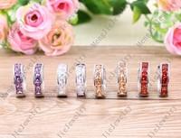 E88006-18 kt gold plated zircon Stud Earrings, fashion lady birthday wedding gift women earrings circle round earrings