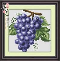 Free Shipping Grape diamond painting 23*23CM 3D square resin diamond cross stitch , home decorations fruits painting