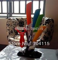 "Free Shipping 3"" 4"" 5"" 6"" inch Ceramic Knife Sets+ Acrylic Holder Block+Gift box"