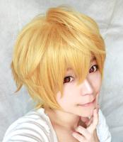 Hazuki Nagisa Gold Short Cosplay Wig,Heat Resistance Hair .Free Shipping