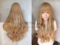 Aisaka Taiga 80cm Blonde Long Wave Cosplay Hair Wig Free Shipping