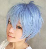 Kuroko Tetsuya Blue Short Cosplay Wig ,Free Shipping