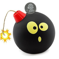 Bomb Coins Shelves Jar Creative Home Gift Children Explosion Save money Birthday Free Shipping School Strange 2014 New Black Hot