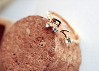 Sakura's Store R1173 popular accessories Women rhinestone note thread openings adjustable ring finger ring