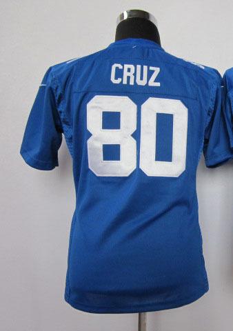 Free Shipping victor cruz women jersey american football cheap 80 cruz blue women jersey(China (Mainland))