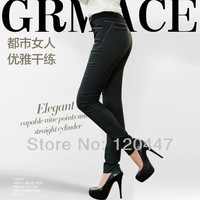 2014 new fashion brand plus size L XL XXL 3XL 4XL elastic waistbad size girls leisure slim feet pant retail whole sale free ship