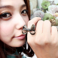 Min. Order 10$ +Mix Order R1177 Fashion accessories vintage bow ring finger ring female