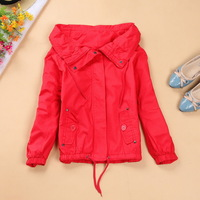Women's end of a single fashion large lapel long-sleeve loose outerwear