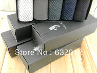 Fashion gift sock box capacity 5pairs or 6 pairs socks coated paper stamping logo black and white
