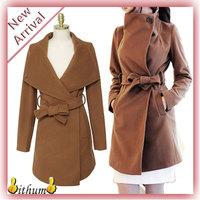 new 2014 winter women's coat fashion wool jacket medium-long design brand wool coat women trench coat plus size women clothing
