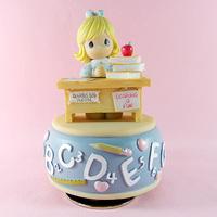Learning girl, rotating music box, creative gift for birthday present