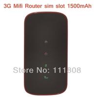 Wholesale 10pcs/lot 3G Wifi Mifi Router 7.2Mbs WIFI Mobile Hotspot Pocket Wifi with SIM Card Slot Unlocked New