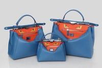 Totes PeekaBoo original calfskin and snake skin handbag real leather bag
