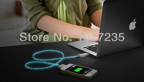... Lighting Cable EL Luminous USB Charger Sync Flash Cable For iPhone 4