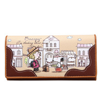 Snoopy SNOOPY wallet long design women's wallet s8040-1