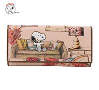 Snoopy cartoon dream SNOOPY wallet three fold long wallet romantic powder