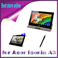 4 in 1 Original 10.1 inch Heat Setting Stand PU Leather Case Cover for Acer Iconia A3-A10 A3 Free Shipping