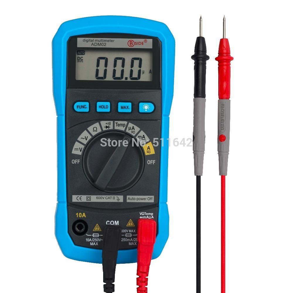 aimo adm02 autorilevazione multimetro digitale ac dc tensione di corrente tester digitale misuratore di temperatura tester diodo