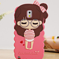 For samsung   note3 small mobile phone protective case n9002 holsteins 9005 phone case 9006 silica gel sets cartoon