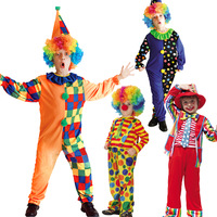 free shipping Christmas child costume clown cosplay clothes clown set  YP509