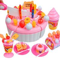 Girl toys Birthday cake Set Play house Children Educational toys Good gift Free shipping