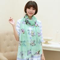 2013 female autumn and winter scarf ultra long silk scarf cape dual