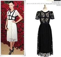 2014 New Arrival European Style Plus Size Short Sleeve Ankle Length Lace Dress Women 2 Colors Y/1087