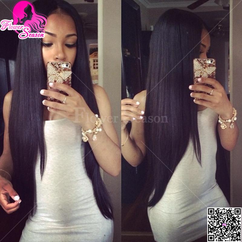 Malaysian Straight Hair Side Part Hair Silky Straight u Part