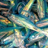 jig fishing soft lure see fishing Grub worm 4pcs 10g 8.5cm T-tail Simulation fishing artificial bait lure Free shipping