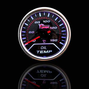"""New 2"""" 52mm Smoke Len Pointer Car Motor Oil Temp Temperature Gauge Auto Meter Car Styling Instrument Universal Free Shipping(China (Mainland))"""