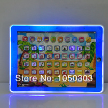 retail box packing children's computer y pad Learning Machine Russian educational toys Kids y-pad table farm toys 5pc free ship(China (Mainland))