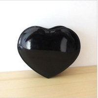 Free shipping 2014 New Fashion lady's mini candy color peach heart punk Clutch,party dress Clutch purse bags with shoulder chain