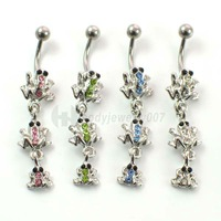 The frog  belly button ring ,nice and new style JF12-012A  Mix colors