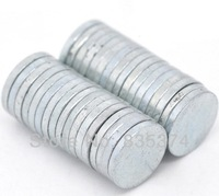 Wholesale 30 PCs Silver Tone Super Strong Neodymium Hematite Round Magnets 8X1mm