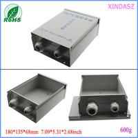 CCTV monitoring system Waterproof aluminium enclosures weatherproof junction box 180*135*68mm(163*130*63mm)