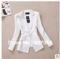 Free Shipping new 2014 brand spring new Korean Slim gold buckle small suit autumn coat OL leisure suit female