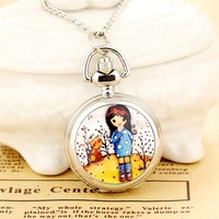 Women's Pocket Watch New 2013 Reloj De Bolsillo Dress Necklace Steampunk Wholesale Dropship 2013 Russia Hot high quality