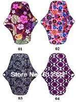 Organic Washable Bamboo Charcoal Menstrual Pad Mama Cloth Sanitary Pads20 pieces